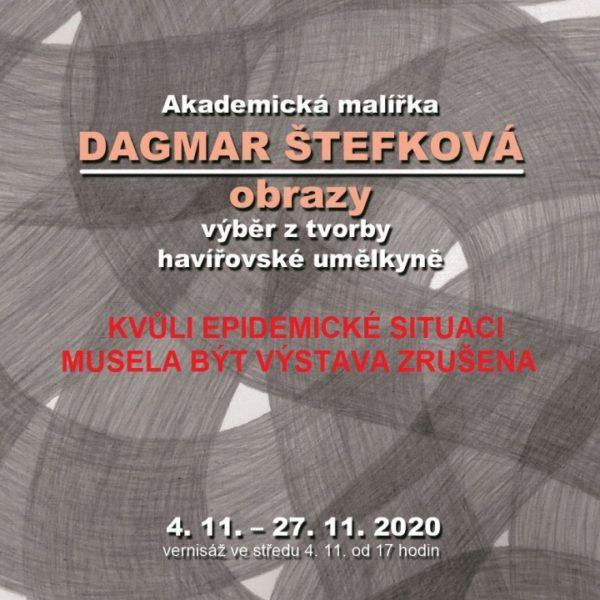Plakát Videoprezentace z výstavy Dagmar Štefková – obrazy