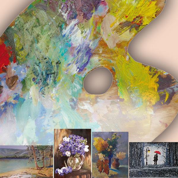 Plakát Barevná paleta – výstava obrazů